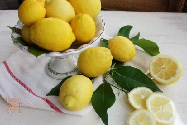 Fresh picked lemons