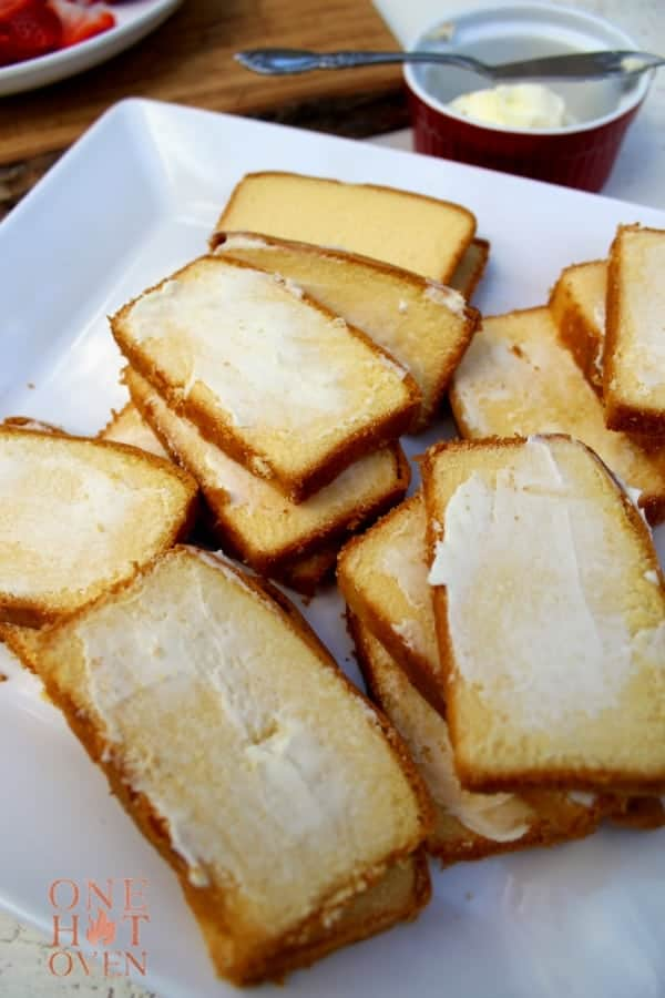 Buttered pound cake