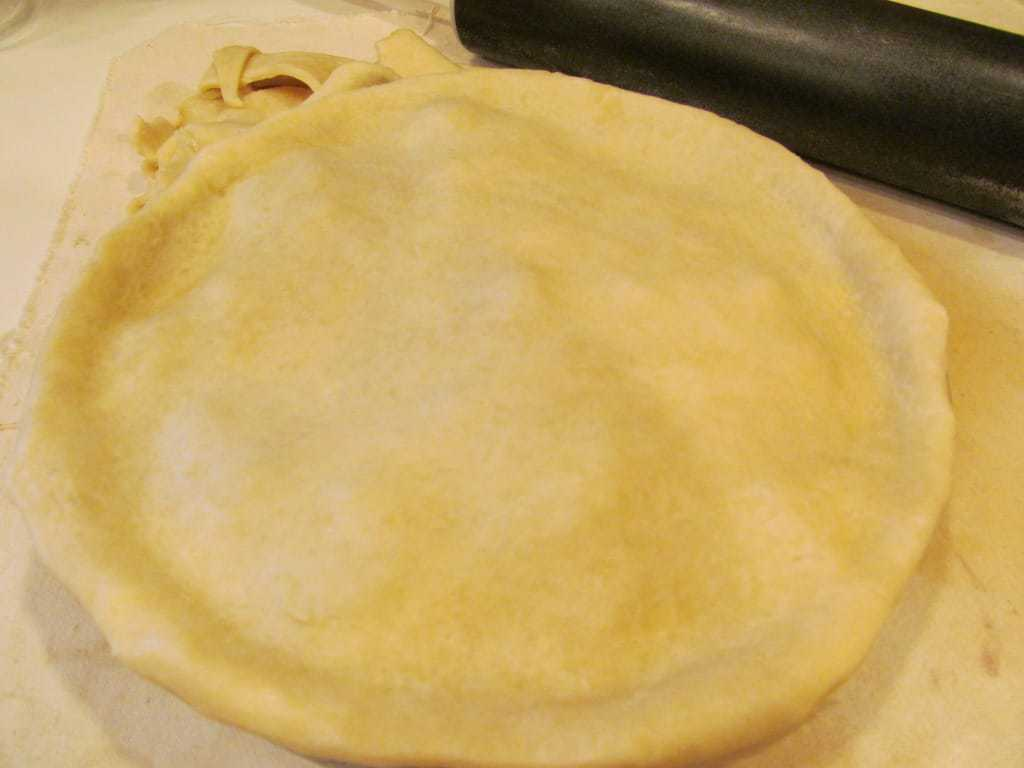 Pie dough for a pie.