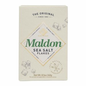 A box of Maldon Sea Salt