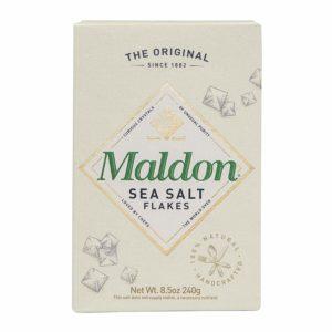 A box of Maldon Sea Salt
