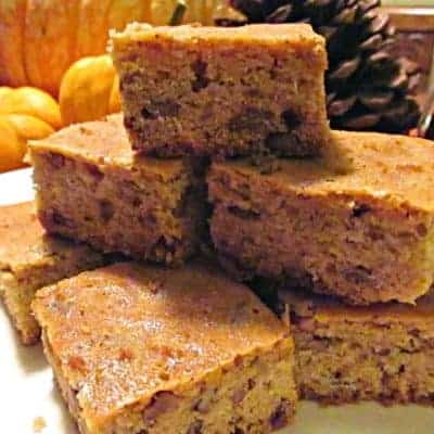 Browned Butter Blondies with Pecans