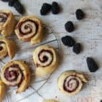 Jelly roll tarts with blackberries