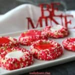Valentines Day Thumbprint Cookies