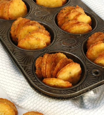 Cotswold Cheese Crackers in a muffin tin for serving