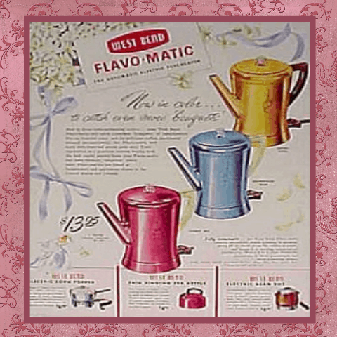Ad for vintage flavomatic coffee pot