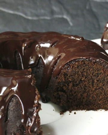 chocolate beer cake with ganache