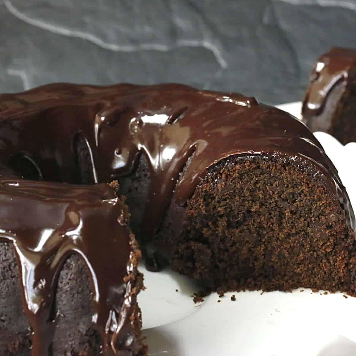 chocolate beer cake with ganache