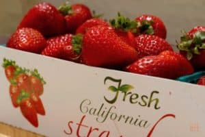 Box of California Stawberries