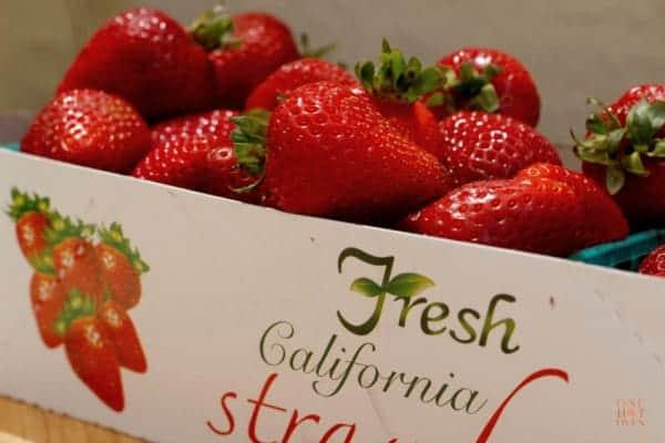 Box of fresh strawberries