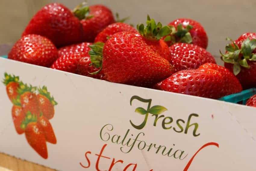Box of California Strawberries