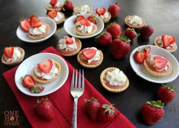 Strawberry Curd Tarts