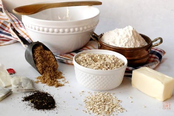 Oatmeal Tea Biscuit Ingredients
