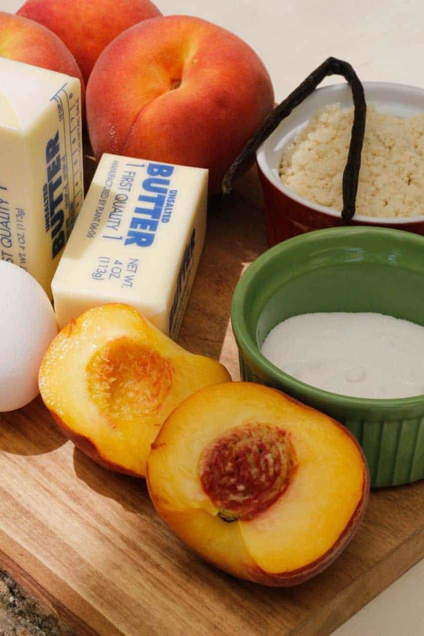 Peach-almond-tart-ingredients