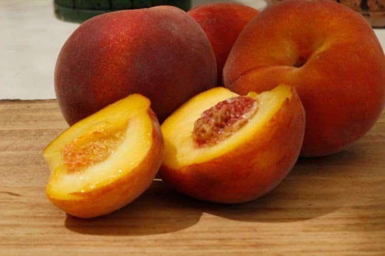 Peaches-cut