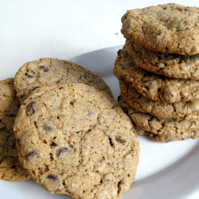 Nutty Double Chocolate Oatmeal with Cacao Nib Cookies