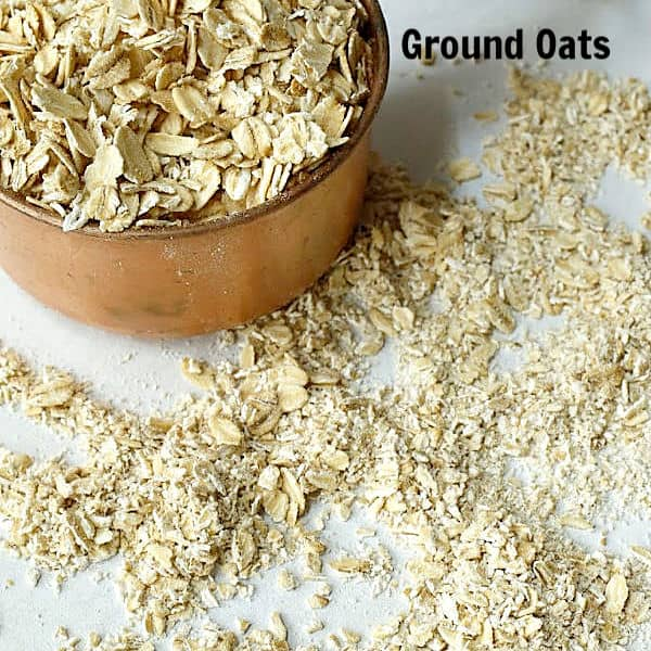 Ground oats for cookies