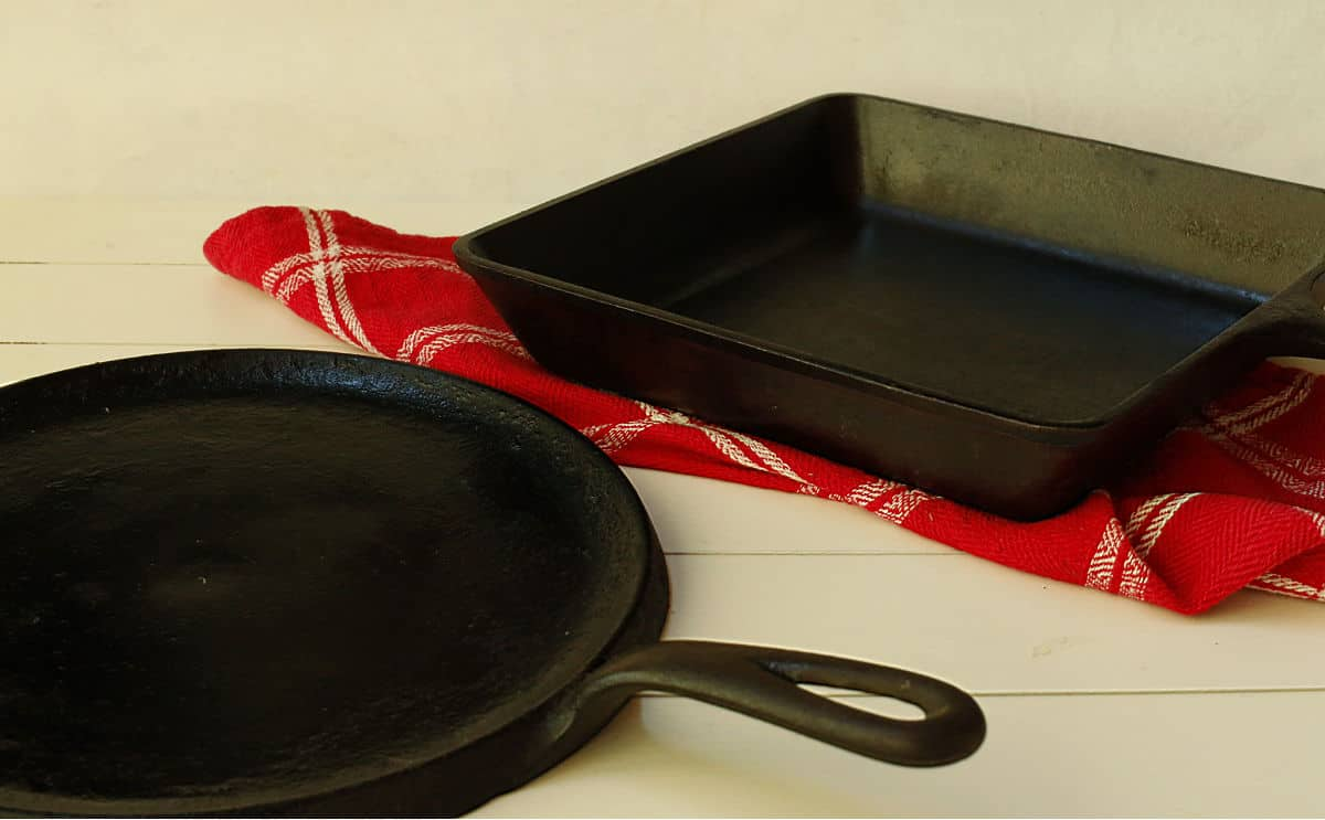 a round and a square cast iron