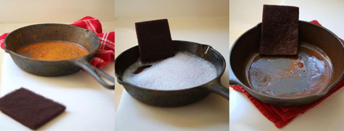 the steps to seasoning a cast iron skillet