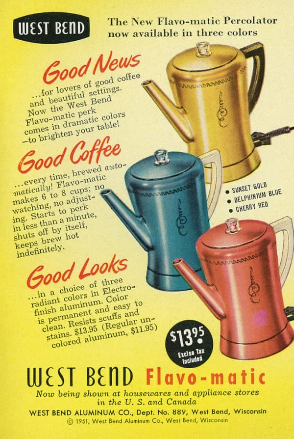 West Bend Flavo-Matic Coffee pot