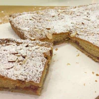 Classic Bakewell Tart with Strawberry Jam