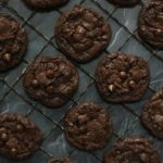 Rack of Chocolate Chocolate Chip Cookies