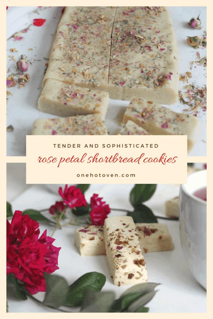 Rose Petal Shortbread Cookies