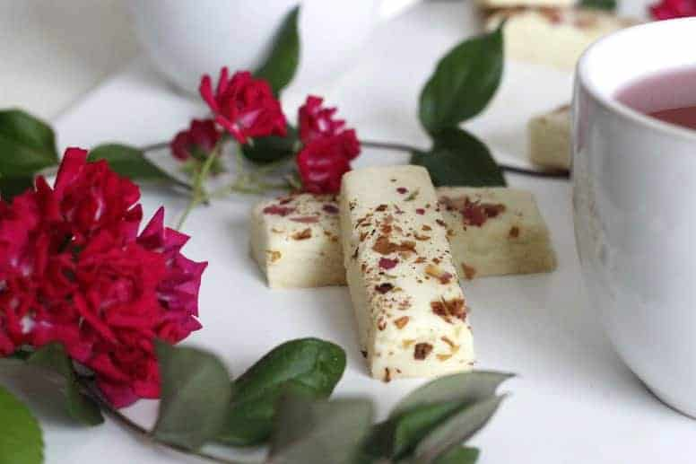 Rose Petal Shortbread cookies