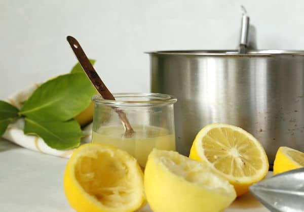 juiced lemons