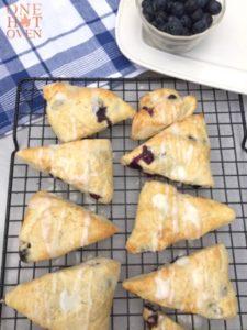 Baked blueberry lemon scones