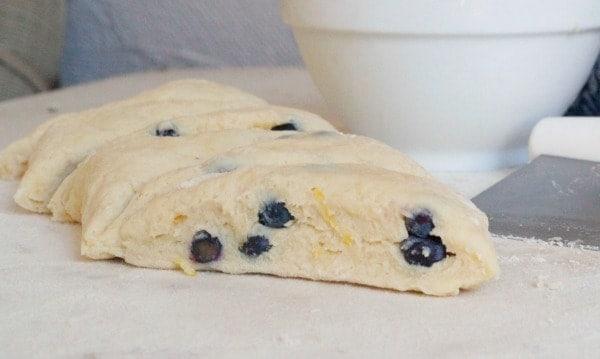 unbaked blueberry lemon scone
