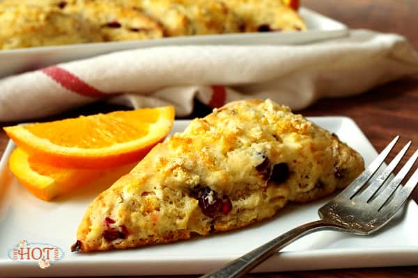 Orange and Cranberry Scone