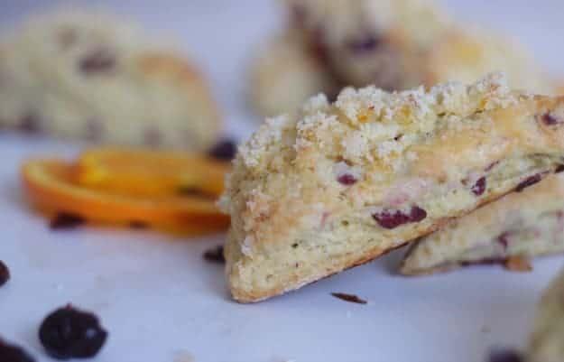 orange cranberry scones