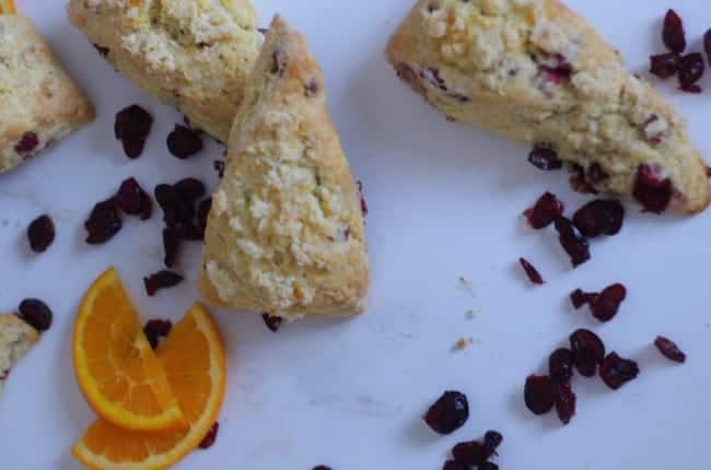 cranberry and orange scones