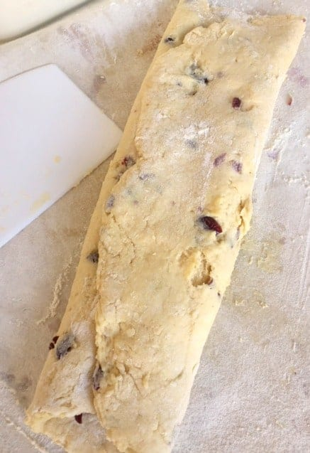 rolled scone dough
