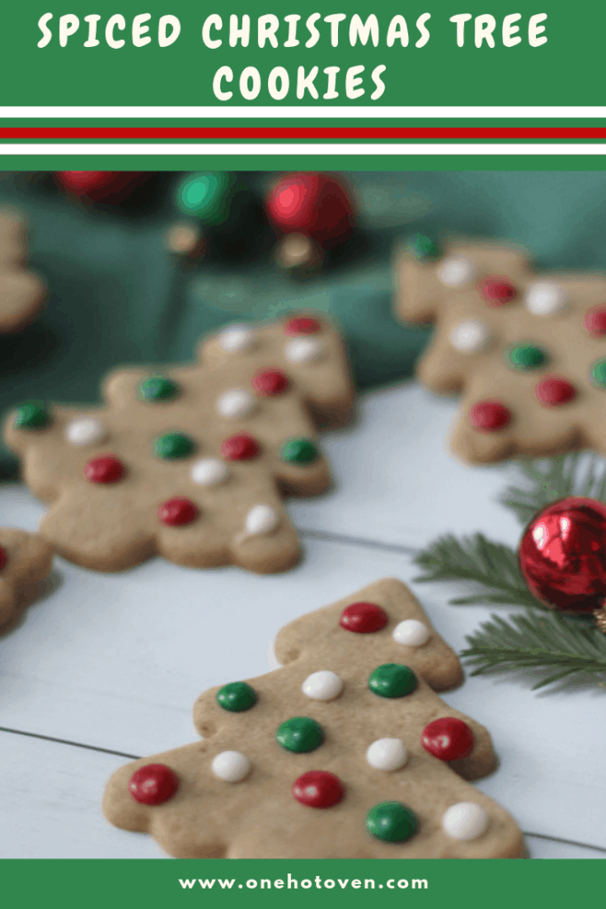 Spiced Christmas Tree Cookies
