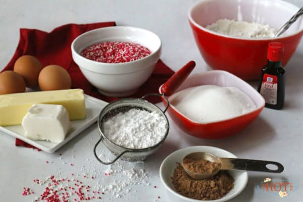 Red Velvet Suprise Inside cookie ingredients