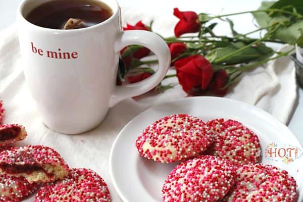 Surprise Inside Cookies with Tea