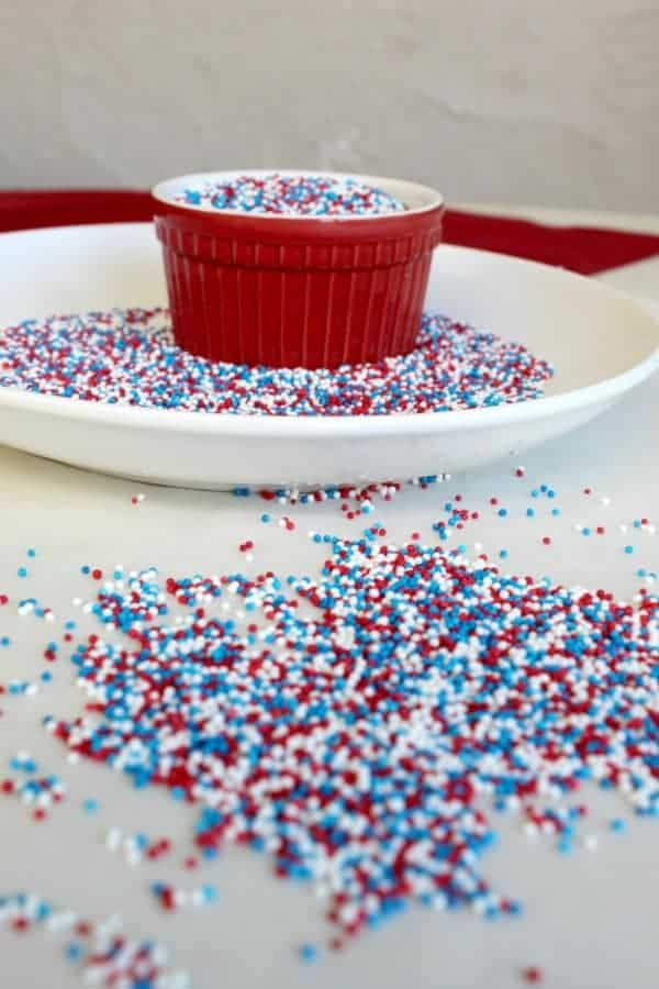 red, white and blue sprinkles