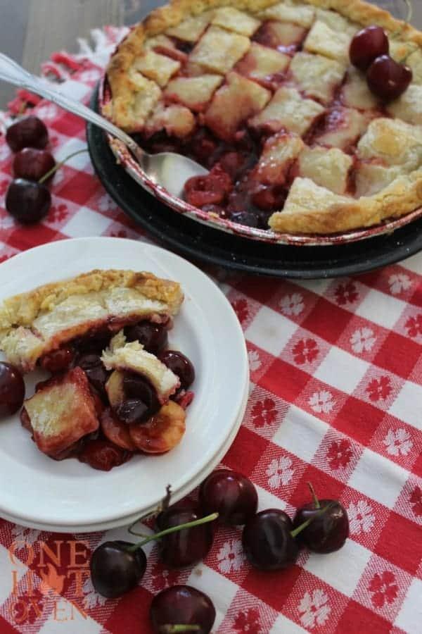 Cherry Pandowdy on plate