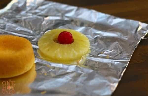 pineapple on foil