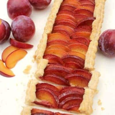 Red Plum Tart with Vanilla Bean