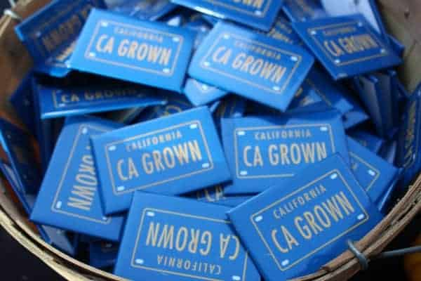 California Grown tags