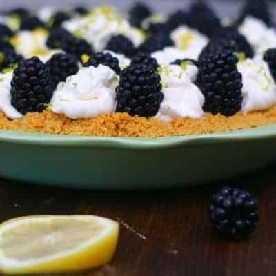 Lemon Lime Blackberry Cream Pie