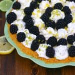 Lemon, Lime and blackberry pie