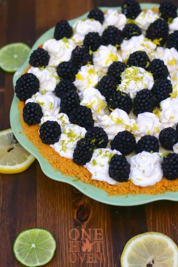Lemon, Lime and blackberry pie