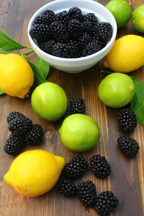 Lemons limes and blackberries