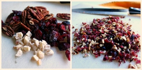 Chopped-pecans-cranberries-ginger