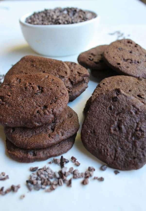 Cacao Nib and Sea Salt Shortbread Cookies