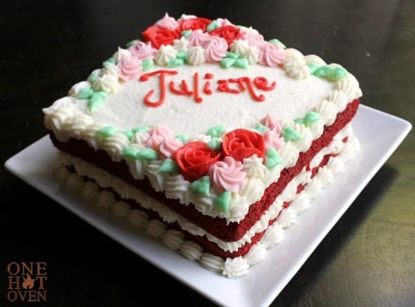 Red Velvet Cake with Butter Roux Frosting